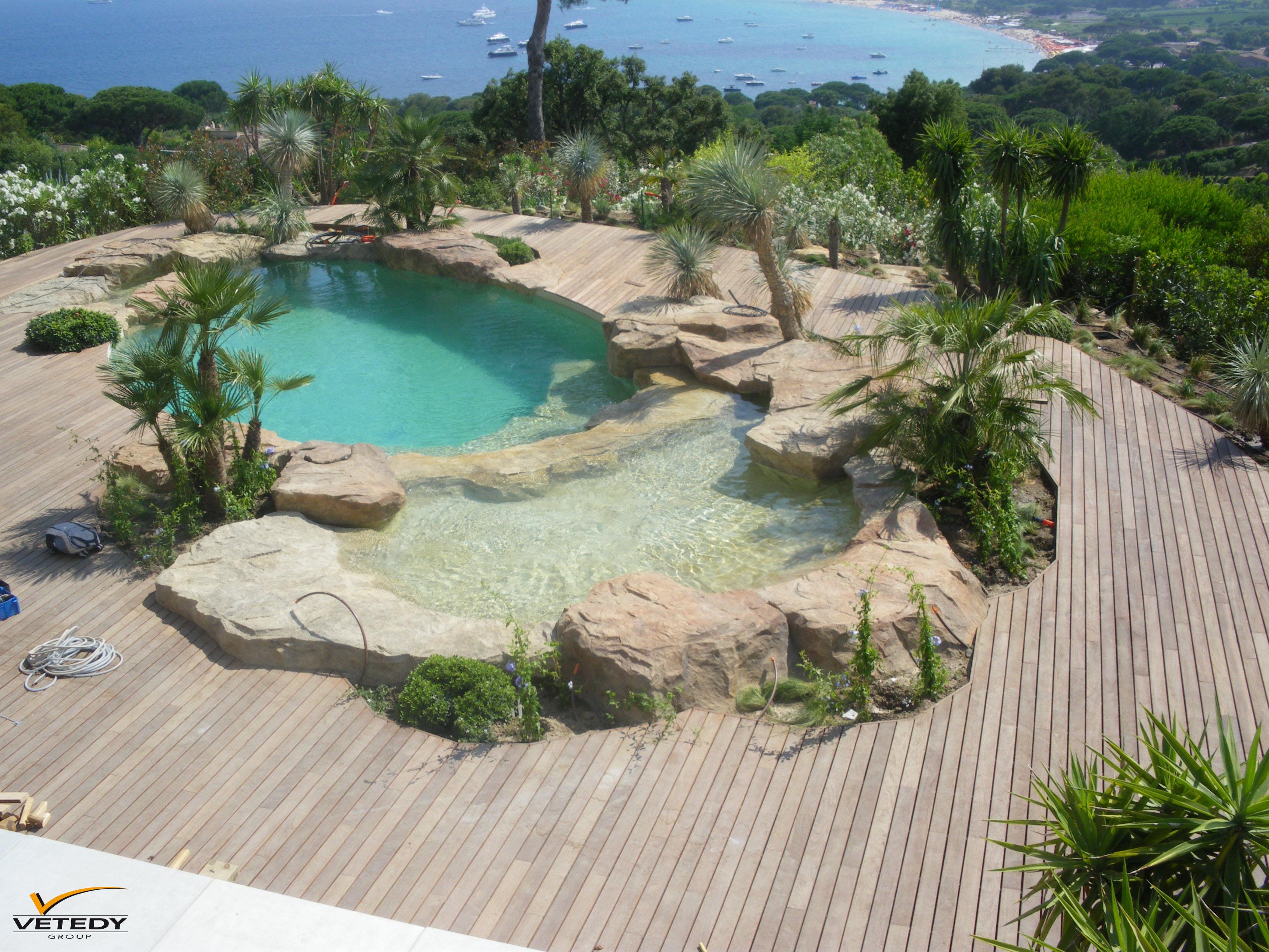 tour de piscine en ipe